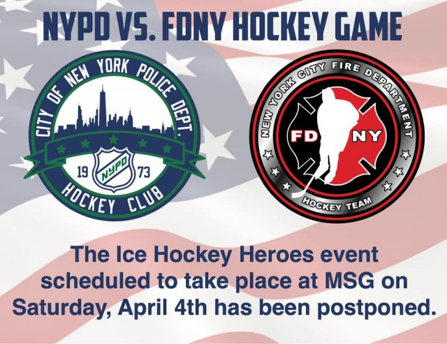 UPATE FOR 2020 FDNY-NYPD HOCKEY GAME
