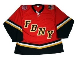 Red FDNY Bravest Hockey Jersey - BUY NOW