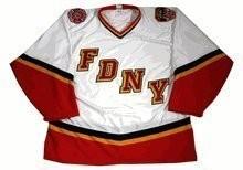 White FDNY Bravest Hockey Jersey - BUY NOW