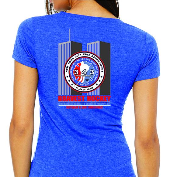Ladies - 2001 - 2021 | 9/11 Tri-Blend Blue T-Shirt