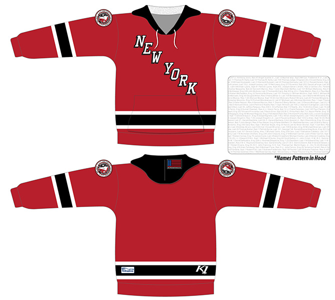 20th Anniversary of 9/11 Commemorative FDNY Hockey Team - Red Hoodie