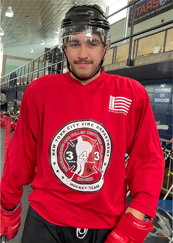 20th Anniversary of 9/11 Commemorative FDNY Hockey Team Sublimated Jersey - Black, Grey, Red or White
