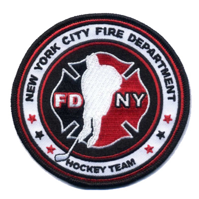 "Official FDNY Hockey Team 4"" Patch"