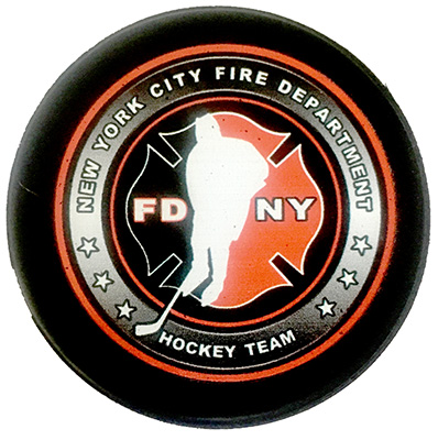 Official FDNY Hockey Team Puck