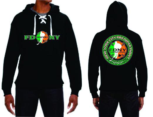 Irish Hockey Style Hoodie Black