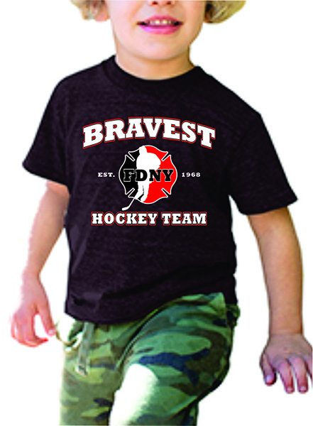 FDNY Hockey Team Logo Toddler Short Sleeve T-Shirt - Dark Gray