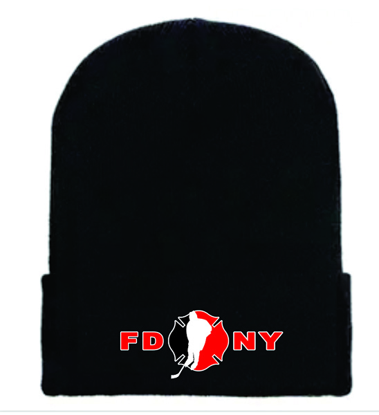 FDNY Hockey Winter Cuff Black Cap