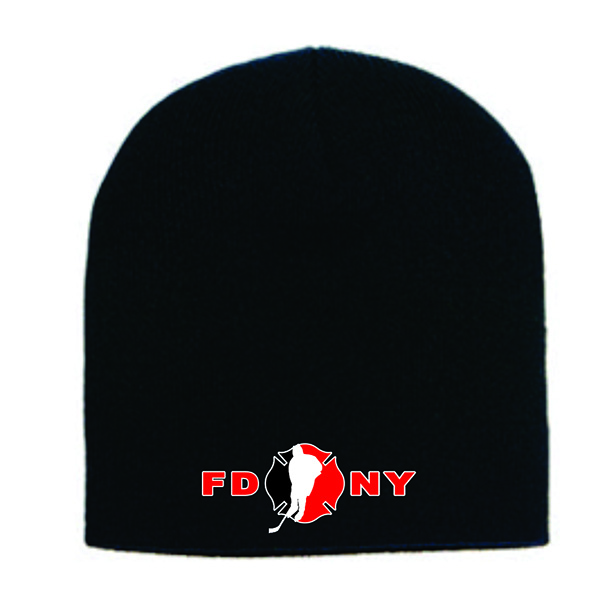 FDNY Hockey Winter Skull Cap Black