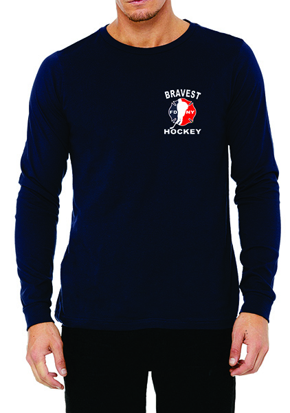 FDNY Hockey Buff Logo Long Sleeve T-Shirt - Blue