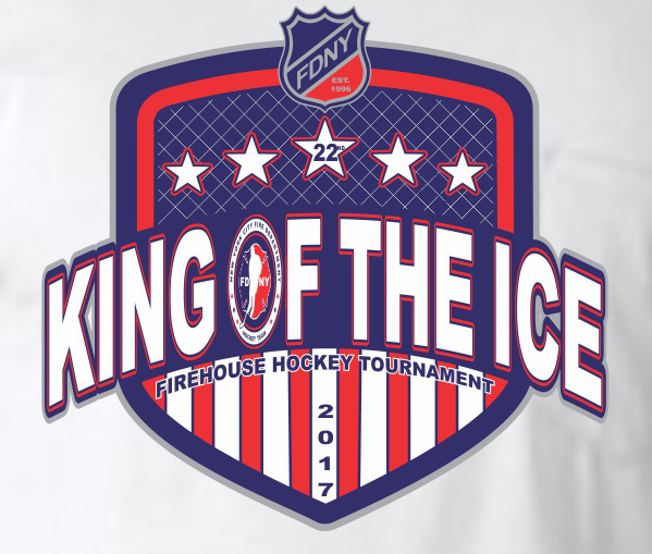 King of the Ice 2017 White Tri-blend T-shirt