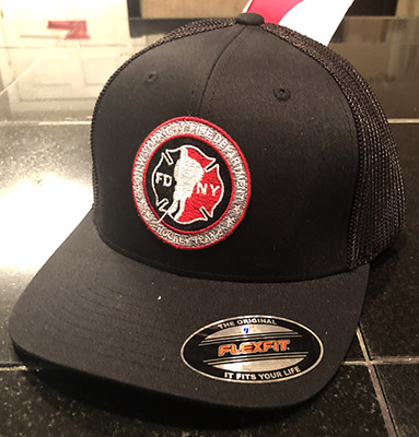 Hockey BLACK Flexfit Trucker Hat