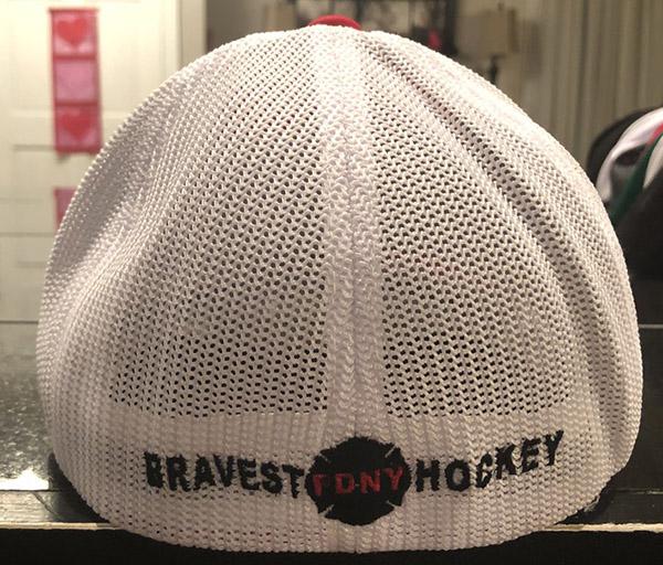 Hockey RED/WHITE Flexfit Trucker Hat