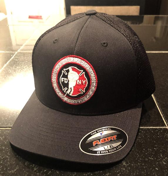 Hockey BLACK Ultra Mesh Flexfit Hat