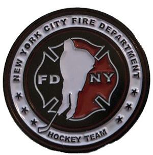 """Official FDNY Hockey Team 1"""" Golf Ball Marker"""