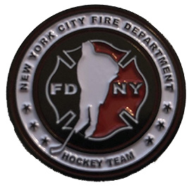 "Official FDNY Hockey Team 1"" Pin"