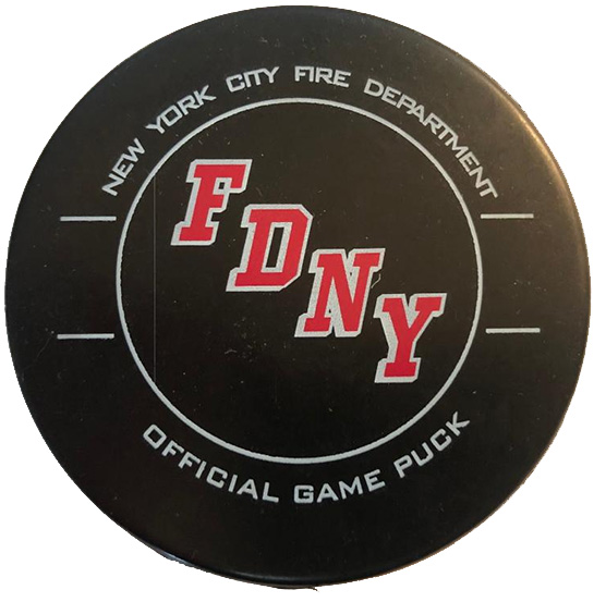 FDNY Hockey Team Text Puck