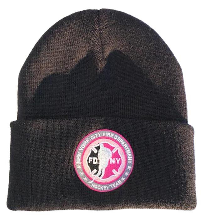 Winter Hat - Gray - Circle Logo Pink